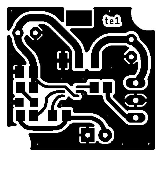Placa de circuito impresso parte topo max9812