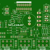 Tda7297 placa circuito impresso pcb tda7297 amplificador, amplificador de áudio, amplificador de potência, circuitos, pré-amplificadores, tda, tda7297, tda7297 esquema tda7297 - amplificador potência com controle tons