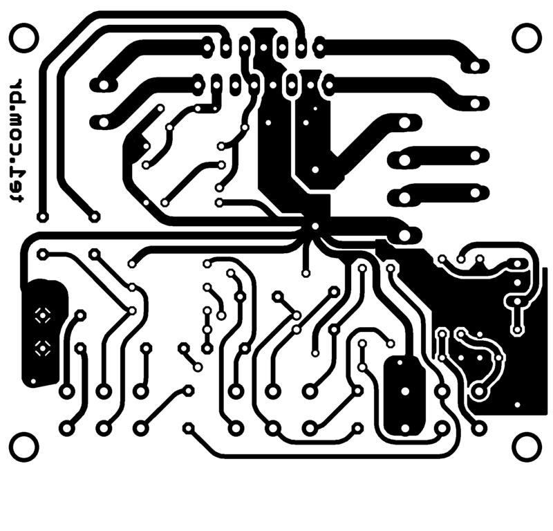 Tda7297 placa de circuito impresso topo
