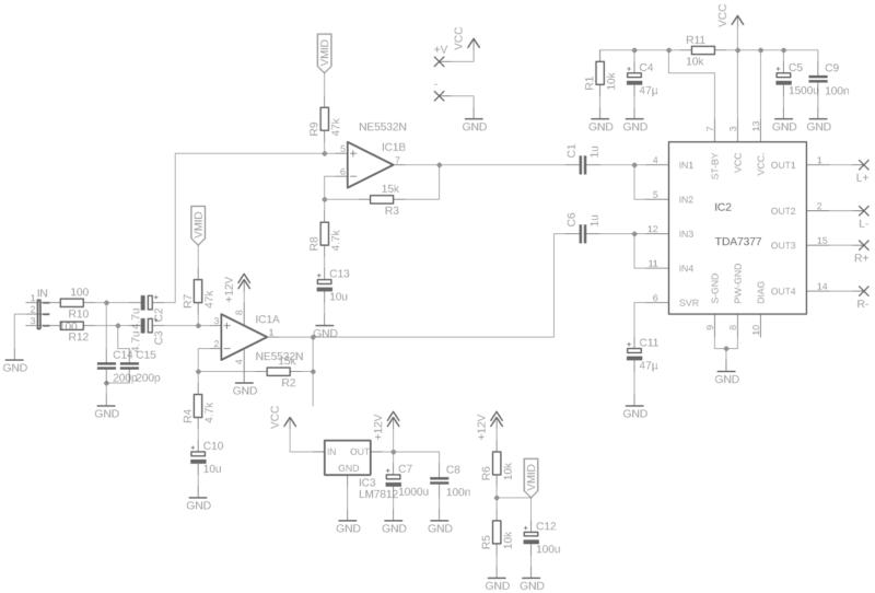Tda7379 esquema amplificador com pré ne5532