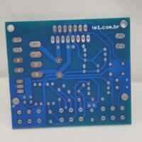Placa circuito impresso jlcpcb pcb parte inferior
