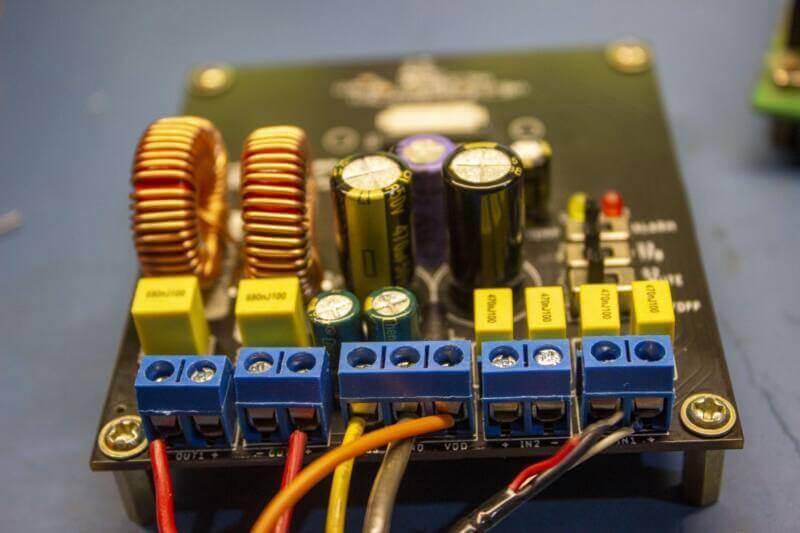 Placa montada amplificador classe d tda8954th potencia tda8954 circuitos tda8953 tda8954 amplificador potência classe d 420w