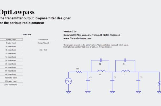 Optlowpass - Optimized Transmitter Output Lowpass Filter Designer