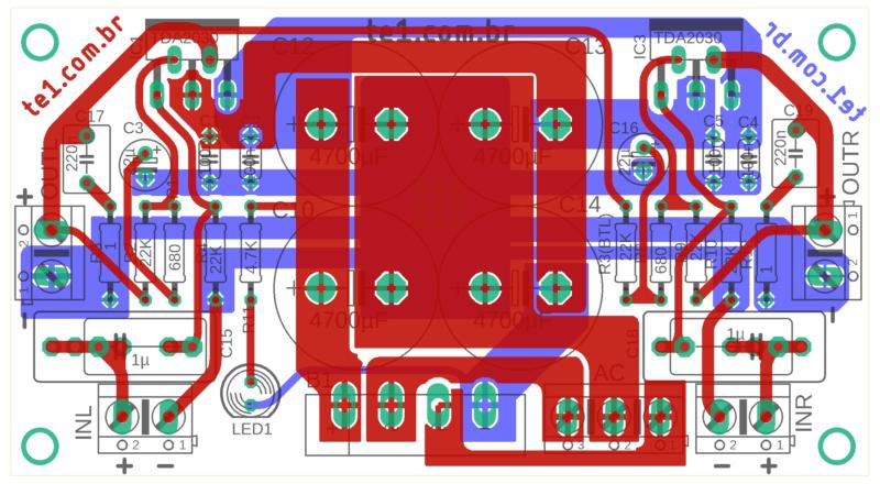 Amplificador Tda2030 Tda2050 Tda2040 Lm1875 Parte Componentes Topo