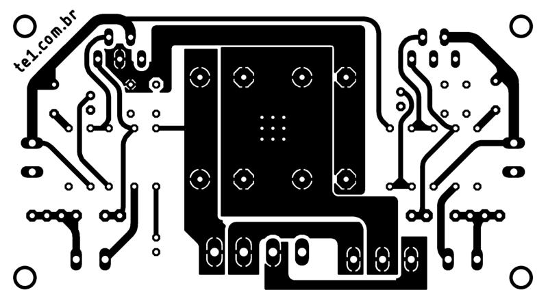 Amplificador Tda2030 Tda2050 Tda2040 Lm1875 Placa Topo