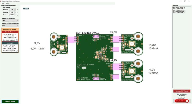 Signal chain power configurator