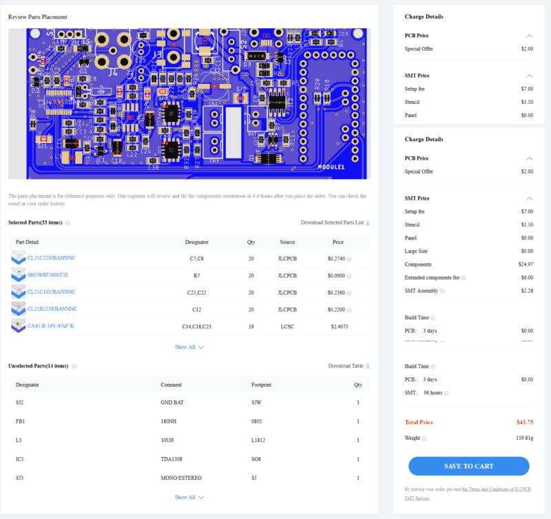 Jlpcb smt serviço de montagem de componente smd conferindo a placa e componentes