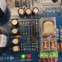 Amplificador tda7294 ou tda7293 com proteção upc1237 placa de circuito impresso montada com relé kit