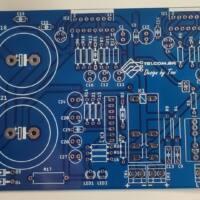 Amplificador tda7294 ou tda7293 com proteção upc1237 placa de cirucito impreso kit