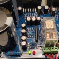 Amplificador tda7294 ou tda7293 com proteção upc1237 placa montada kit