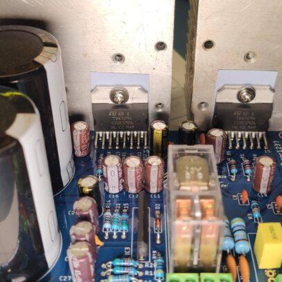 Amplificador tda7294 ou tda7293 com proteção upc1237