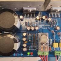 Amplificador tda7294 ou tda7293 com proteção upc1237 placa montada