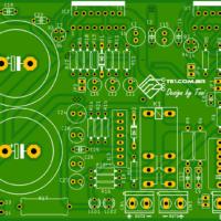 Amplificador tda7294 ou tda7293 com proteção upc1237 placa de circuito impresso (pcb)