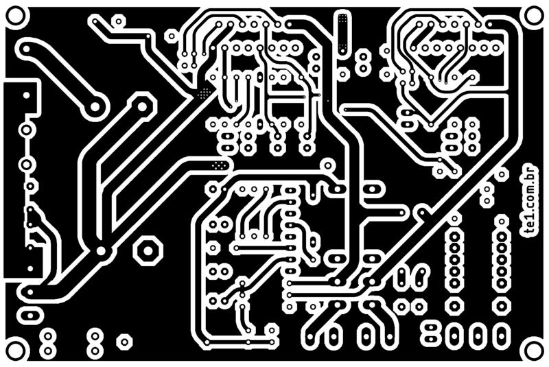 Amplificador tda7294 ou tda7293 com proteção upc1237 placa de circuito impresso impresso topo