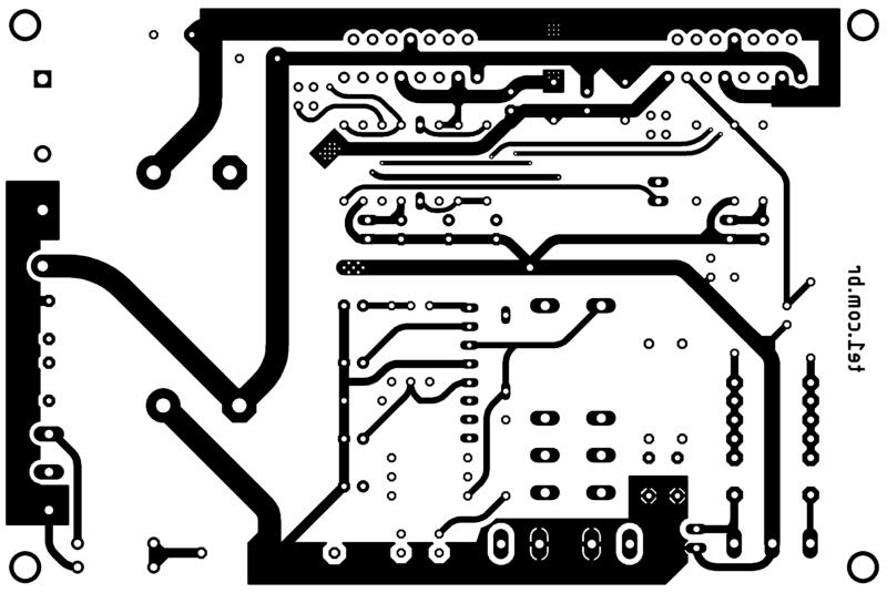 Amplificador tda7294 ou tda7293 com proteção upc1237 placa de circuito impresso impresso parte inferior